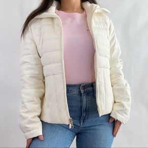 Kenth Cole Reaction Ivory White Puffer Jacket